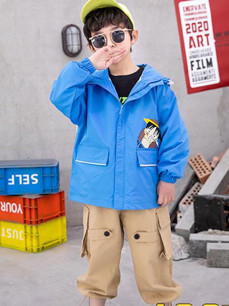 123童装童装品牌2021春夏蓝色外套