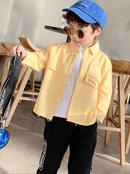 123童装童装品牌2021春夏米黄色外塔