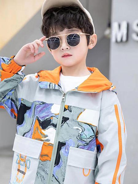 123童装童装品牌2021春夏拼色外套