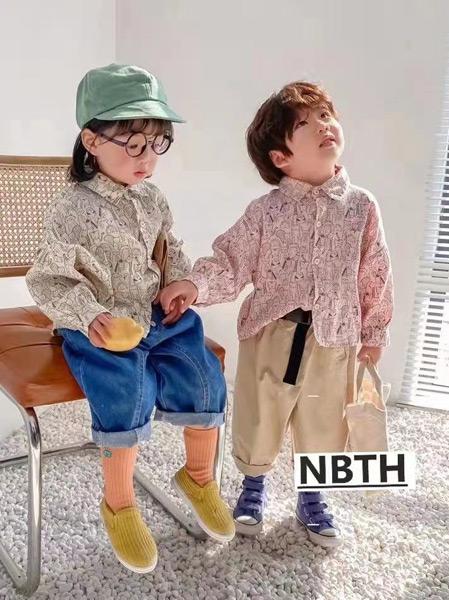 努吡童话童装品牌2021春夏宽松衬衫