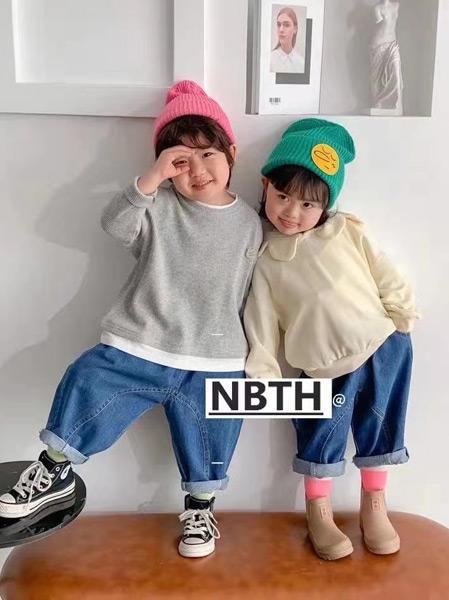 努吡童话童装品牌2021春夏简约圆领T恤