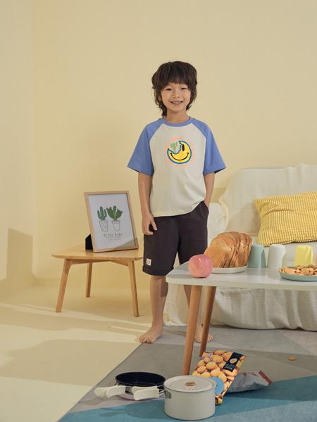Moomoo童装品牌2021春夏月亮图案T恤