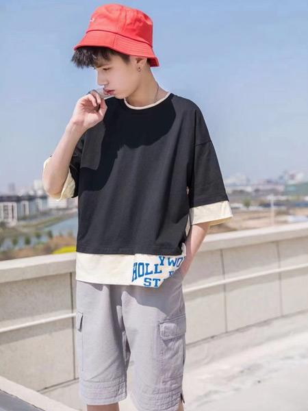 妙优童装品牌2021春夏中袖户外T恤
