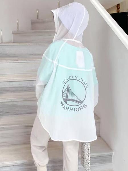 妙优童装品牌2021春夏纯色防晒衣