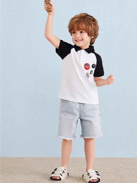 宾果童话童装品牌2021春夏撞色衬衫
