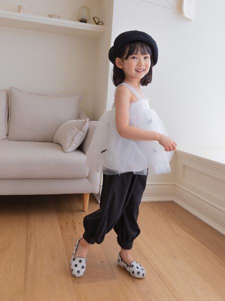boabo.宝儿宝童装品牌2021春夏无袖雪纺蓬蓬上衣裙