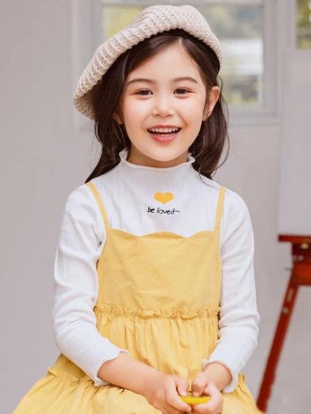 佰宝糖 BIBATOWN童装品牌2021春夏黄色吊带裙