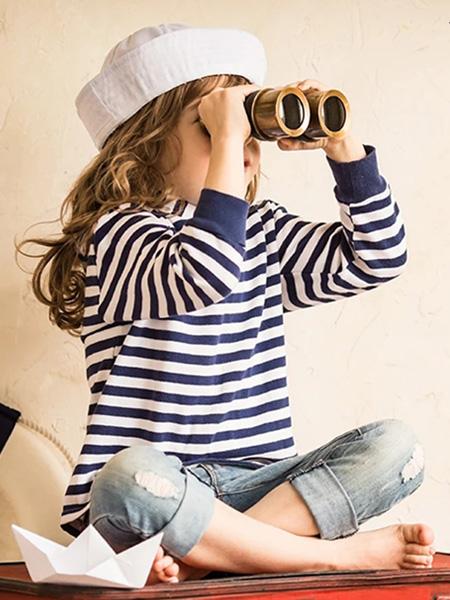 佰宝糖 BIBATOWN童装品牌2021春夏条纹上衣