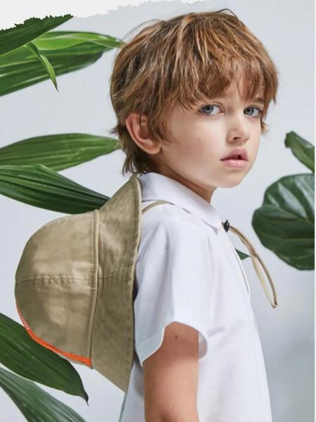 小才宝MT童装品牌2021春夏白色翻领衬衫