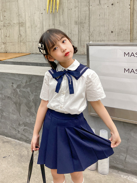 UZUM童装品牌2021春夏学院风套裙