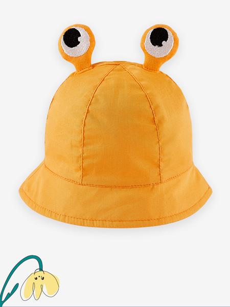 英氏童装品牌2021春夏黄色蜗牛帽