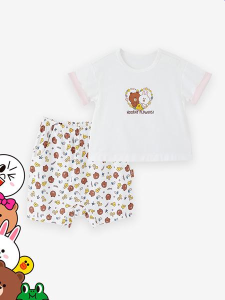 英氏童装品牌2021春夏甜美可爱短袖套装