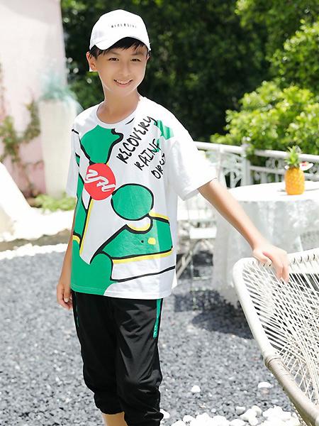 糖果布丁  青少年潮牌童装品牌2021春夏运动宽松T恤