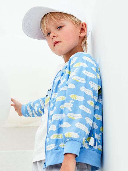 蒙蒙摩米 Mes amis童装品牌2021春夏印花海底生物外套