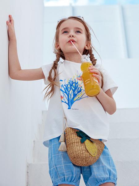 蒙蒙摩米 Mes amis童装品牌2021春夏休闲短袖上衣