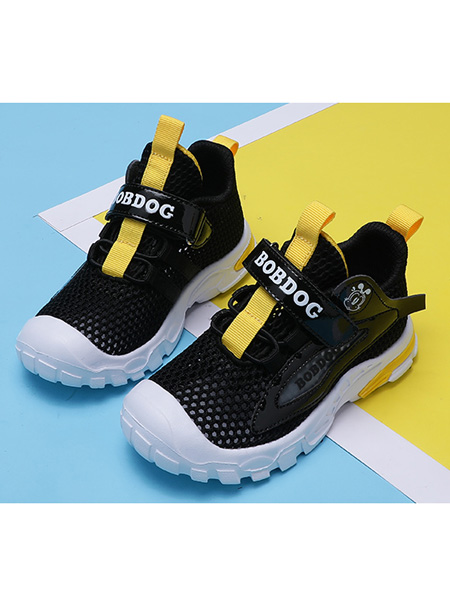 巴布豆童装品牌2021春夏网面镂空透气鞋