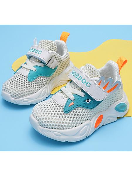巴布豆童装品牌2021春夏网面运动鞋