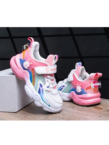 巴布豆童装品牌2021春夏透气运动鞋