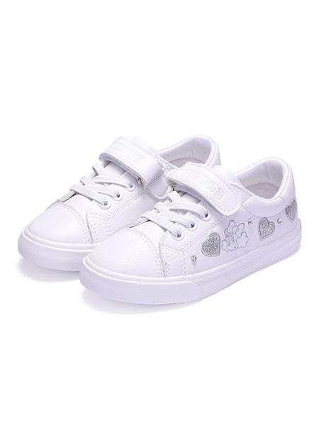 巴布豆童装品牌2021春夏百搭小白鞋