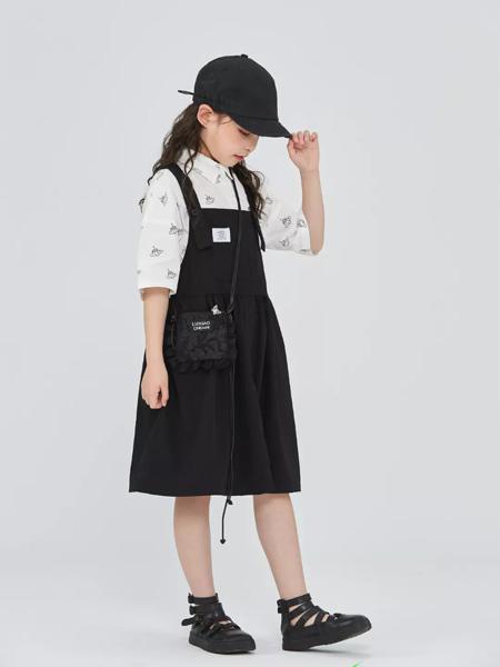 衣城优品童装品牌2021秋冬休闲宽松吊带裙