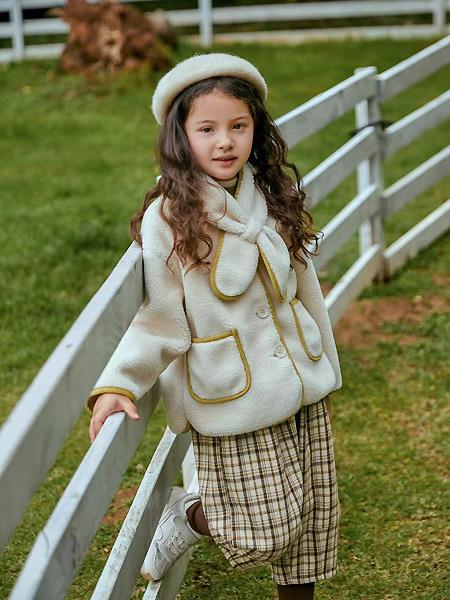 优露童装童装品牌2021春保暖羊毛绒外套