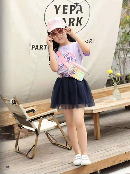 班吉鹿banjilu童装品牌2021春紫色休闲上衣