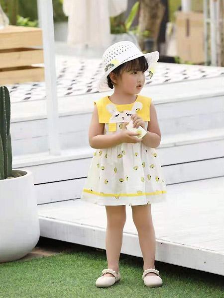 班吉鹿banjilu童装品牌2021春夏学院风无袖连衣裙