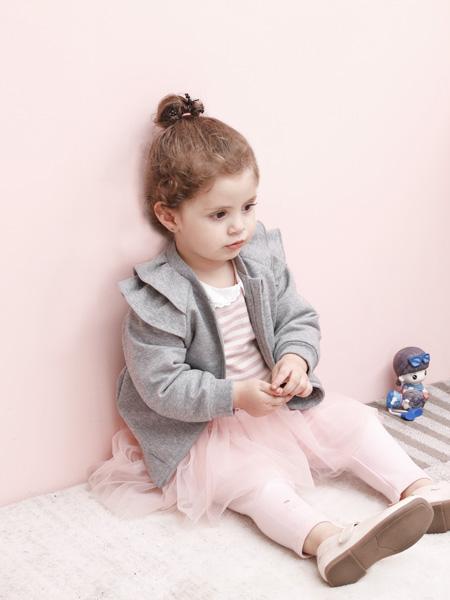 圣宝度伦童装品牌2021春夏灰色纯棉外套