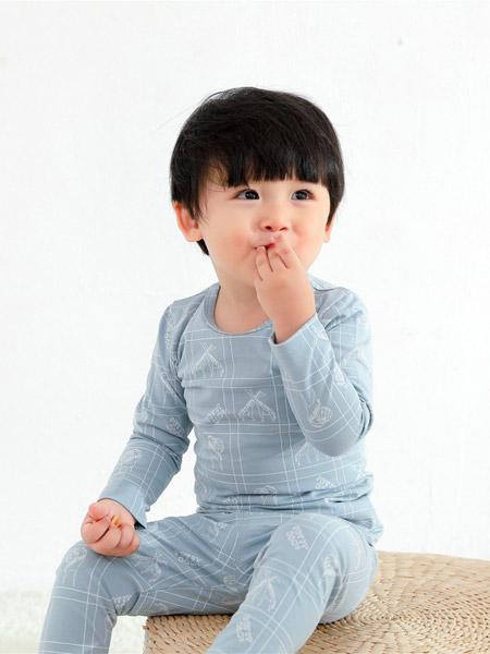 Petit Kami贝蒂卡密童装品牌2021春夏蓝色治愈印花长款套装