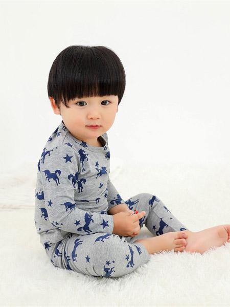 Petit Kami贝蒂卡密童装品牌2021春夏蓝色小马灰色底衣