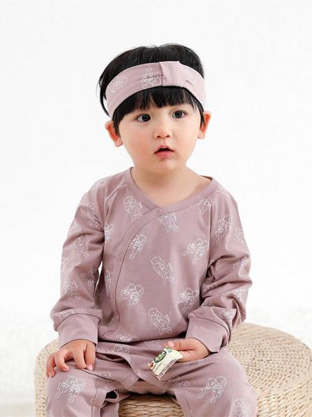 Petit Kami贝蒂卡密童装品牌2021春夏紫色印花睡衣
