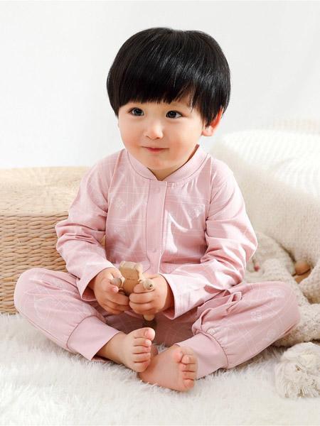 Petit Kami贝蒂卡密童装品牌2021春夏粉色立领长款睡衣套装