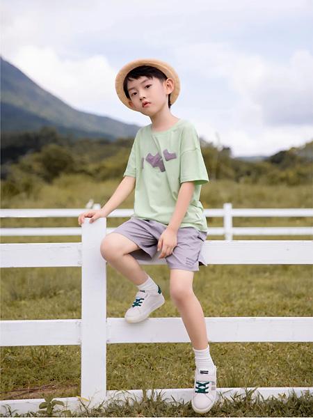 莳季童装品牌2021夏季小清新中袖T恤