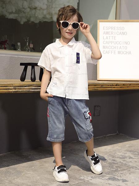 快�肪��`童�b品牌2021夏季白色�r衫