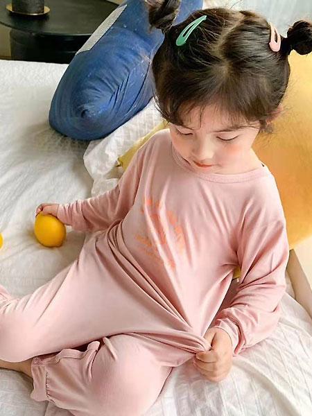 田佳禾童�b品牌2021夏季藕粉色睡衣