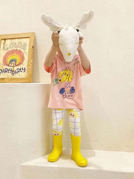 田佳禾童装品牌2021夏季小动物图案T恤