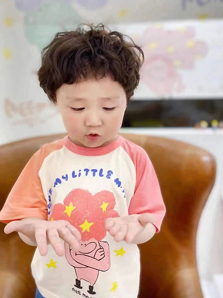田佳禾童装品牌2021夏季甜美中袖纯棉上衣