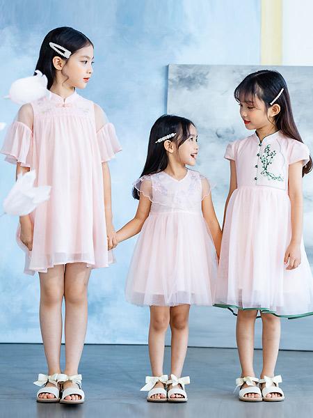 德蒙斯特童装品牌2021夏季旗袍公主裙