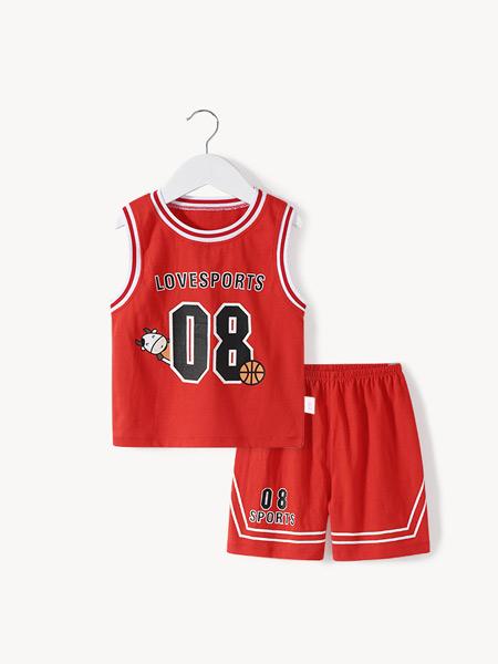 舒贝怡童装品牌2021夏季运动篮球服