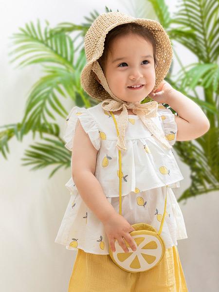babylove娃爱的蓓蓓童装品牌2021夏季时尚沙滩上衣