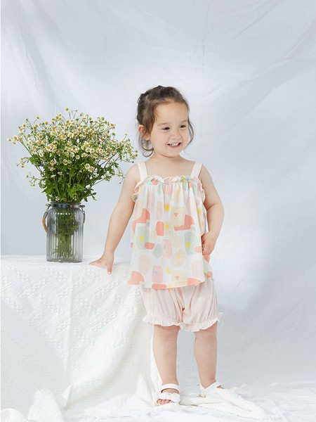 babylove娃爱的蓓蓓童装品牌2021夏季裙式上衣