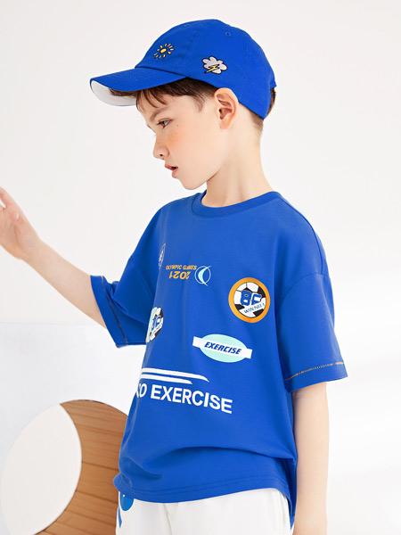gxg.kids童装品牌2021夏季蓝色休闲T恤
