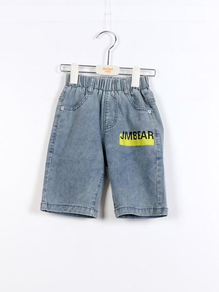 杰米熊童鞋品牌2021夏季牛仔印字母中裤
