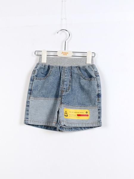 杰米熊童鞋品牌2021夏季牛仔街头范短裤