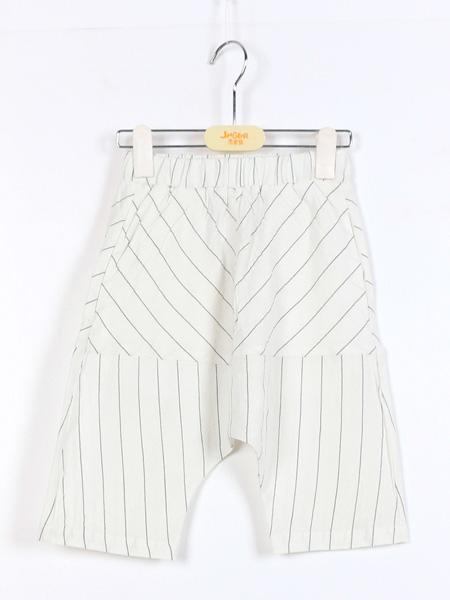 杰米熊童鞋品牌2021夏季条纹个性中裤