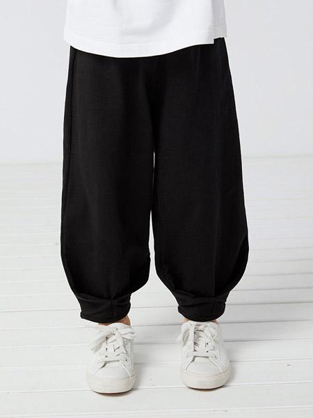 koalamoon /考拉和月亮童装品牌2021夏季设计感蓬蓬束脚裤