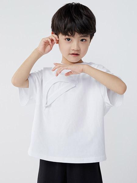 koalamoon /考拉和月亮童装品牌2021夏季原宿风白色T恤