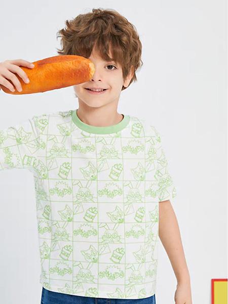 中�⒎��童�b品牌2021夏季森系印花T恤