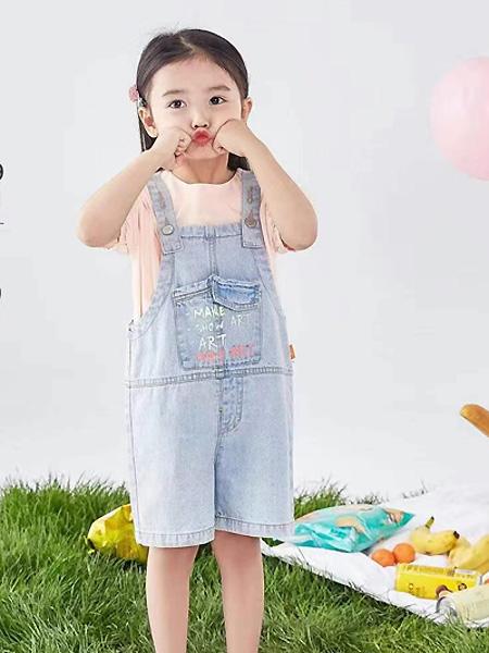 中启服饰童装品牌2021夏季口袋吊带短裤