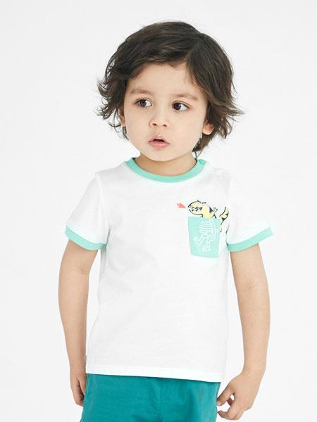 安奈儿童装品牌2021春夏小清新T恤